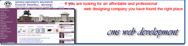 CMS website design Kolhapur